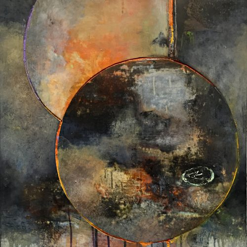 Eclipse II – 20 x 16, acrylic on canvas on panel, 2015, private collection