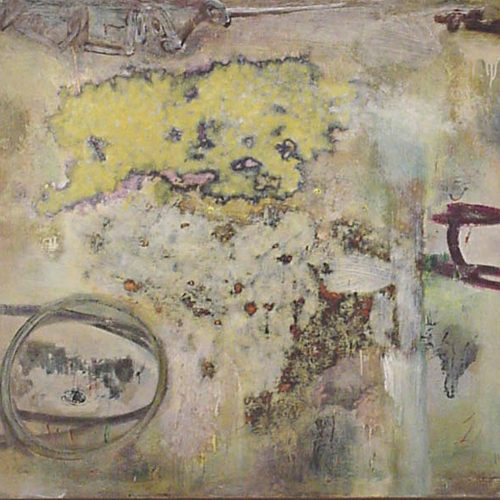 Gyro - 44 X 46, acrylic on linen, 2000, private collection