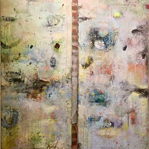 Within the Divide – 42 x 36 diptych, acrylic on canvas, 2013