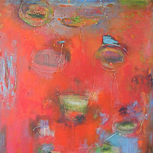Latent Magic – 46 x 46, acrylic on linen, 2010, private collection
