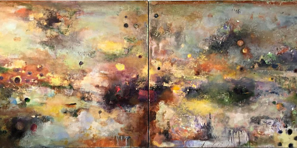 Long Pond – 35 x 80 (diptych), acrylic on canvas, 2014, private collection